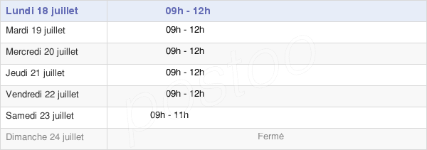 horaires d'ouverture de la Mairie D'Oisy