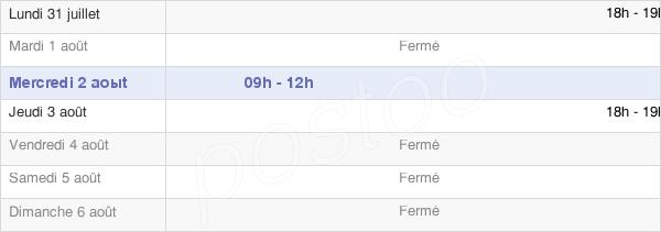 horaires d'ouverture de la Mairie De Villeret