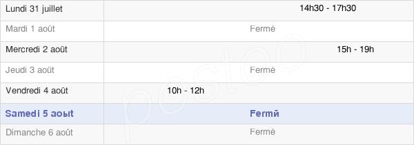 horaires d'ouverture de la Mairie De Saint-Gobert