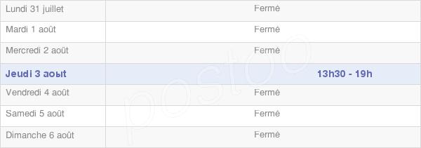 horaires d'ouverture de la Mairie De Fontaine-Uterte
