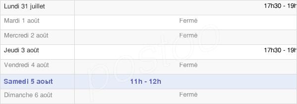 horaires d'ouverture de la Mairie De Ciry-Salsogne