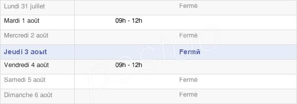 horaires d'ouverture de la Mairie De Belleau