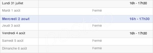 horaires d'ouverture de la Mairie D'Artemps