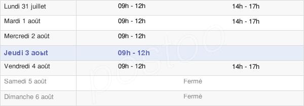 horaires d'ouverture de la Mairie De Wassigny
