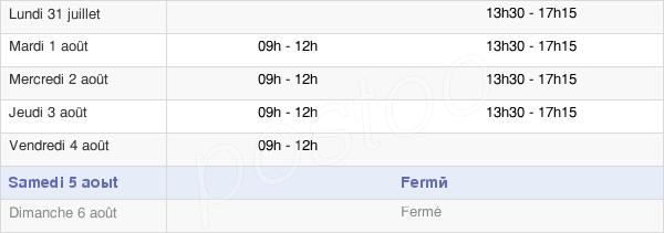 horaires d'ouverture de la Mairie De Crézancy