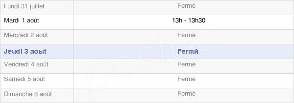 horaires d'ouverture de la Mairie De Ployart-Et-Vaurseine