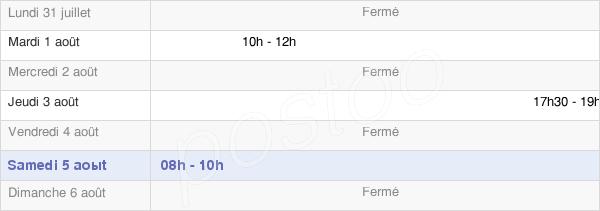 horaires d'ouverture de la Mairie De Cugny