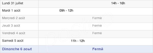 horaires d'ouverture de la Mairie De Villers-Le-Sec