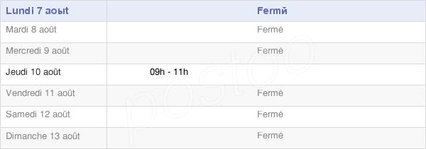 horaires d'ouverture de la Mairie De Trefcon