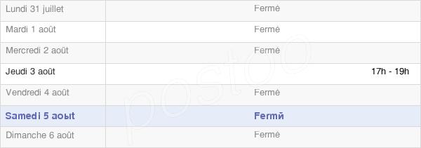 horaires d'ouverture de la Mairie De Cramaille