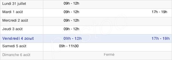 horaires d'ouverture de la Mairie D'Itancourt