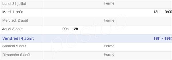 horaires d'ouverture de la Mairie De Pontru