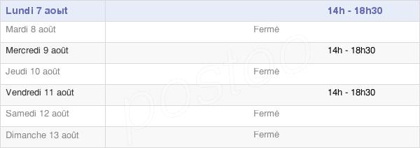 horaires d'ouverture de la Mairie De Versigny