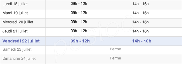 horaires d'ouverture de la Mairie De Liesse-Notre-Dame