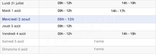 horaires d'ouverture de la Mairie D'Azy-Sur-Marne