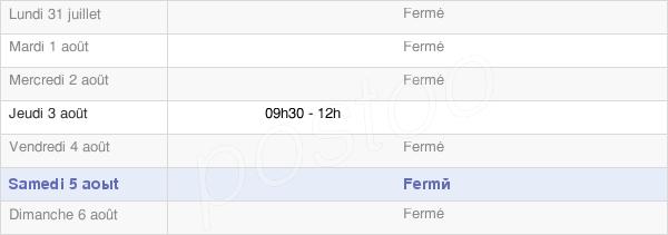 horaires d'ouverture de la Mairie De Chamouille
