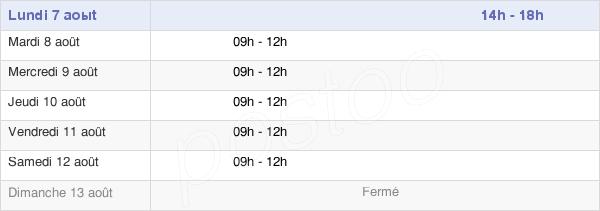 horaires d'ouverture de la Mairie De Prémont