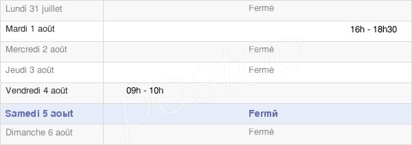 horaires d'ouverture de la Mairie De Papleux