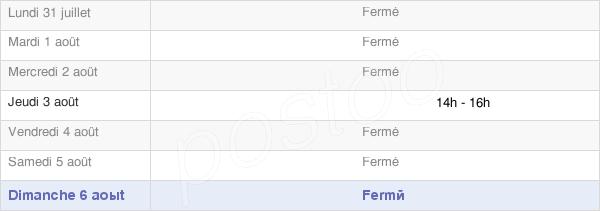 horaires d'ouverture de la Mairie De Les Autels