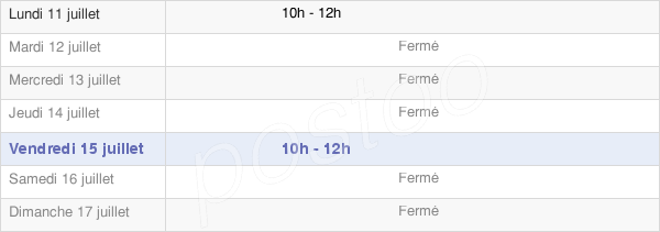 horaires d'ouverture de la Mairie De Dorengt