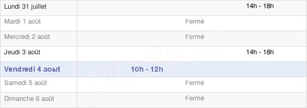 horaires d'ouverture de la Mairie De Chaon