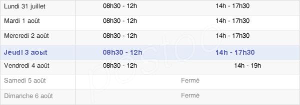 horaires d'ouverture de la Mairie De Colmar