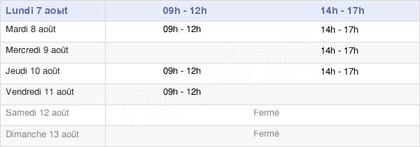horaires d'ouverture de la Mairie De Bergholtz