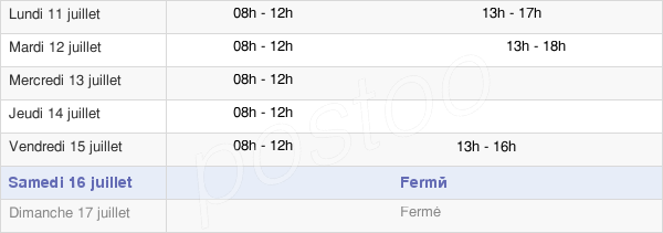 horaires d'ouverture de la Mairie D'Uffholtz