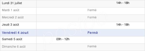 horaires d'ouverture de la Mairie De Lamagdelaine