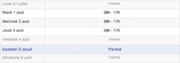horaires d'ouverture de la Mairie De Saint-Santin