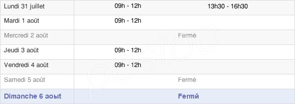 horaires d'ouverture de la Mairie De Cassuéjouls