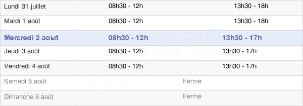 horaires d'ouverture de la Mairie De Viviez
