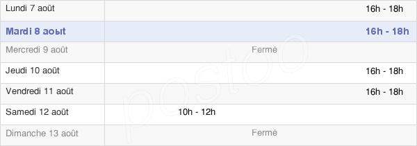 horaires d'ouverture de la Mairie De Bouillac