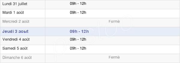 horaires d'ouverture de la Mairie De Golinhac