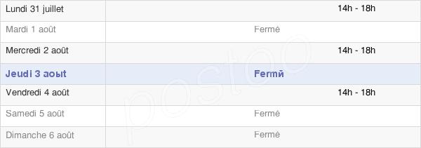horaires d'ouverture de la Mairie De La Terrisse