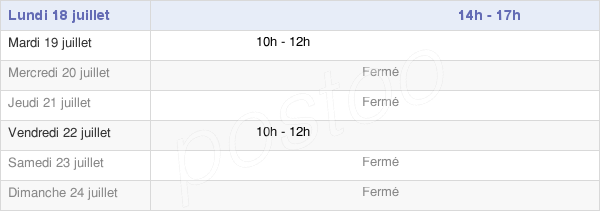 horaires d'ouverture de la Mairie De Saint-Pé-De-Léren