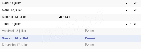 horaires d'ouverture de la Mairie De Labastide-Cézéracq