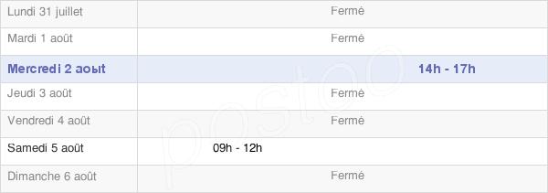 horaires d'ouverture de la Mairie D'Auriac