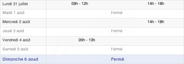 horaires d'ouverture de la Mairie De Taron-Sadirac-Viellenave
