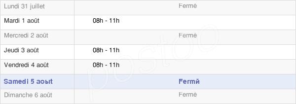 horaires d'ouverture de la Mairie De Labastide-Villefranche