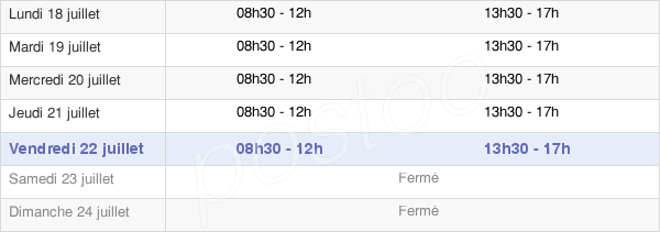 horaires d'ouverture de la Mairie De Nay
