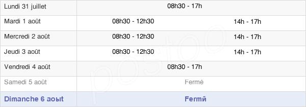horaires d'ouverture de la Mairie D'Arudy