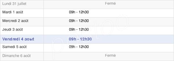 horaires d'ouverture de la Mairie De Lanne-En-Barétous