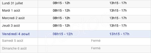 horaires d'ouverture de la Mairie De Ciboure