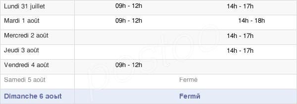 horaires d'ouverture de la Mairie De Serres-Sainte-Marie