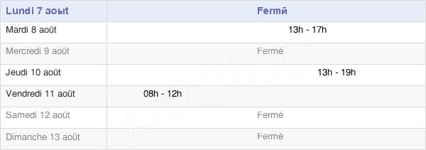 horaires d'ouverture de la Mairie De Bernadets