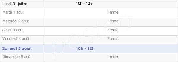 horaires d'ouverture de la Mairie De Pomps