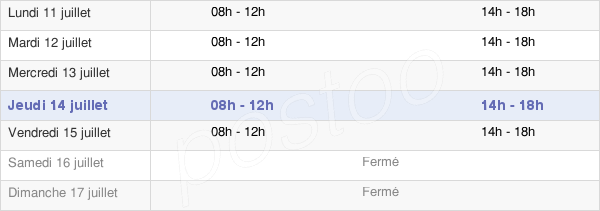 horaires d'ouverture de la Mairie De Puyoo