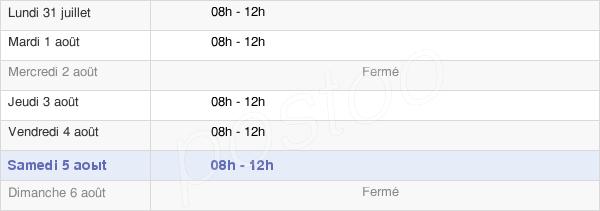 horaires d'ouverture de la Mairie De Macaye