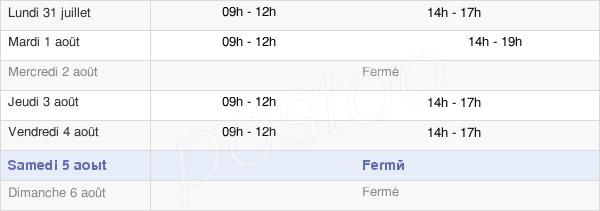 horaires d'ouverture de la Mairie De Poey-De-Lescar